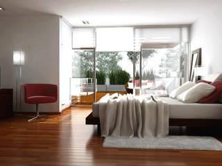 Vivienda en Grand Bell Dormitorios modernos: Ideas, imágenes y decoración de AMADO arquitectos Moderno
