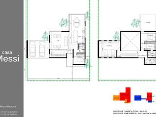 PROY. CASA MESSI EN ACEQUIAS DEL AIRE:  de estilo  por W-Arquitectura
