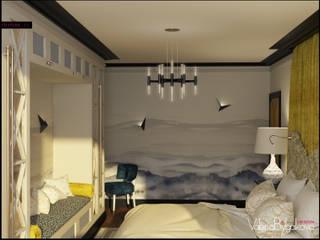Квартира текстильщики Спальня в эклектичном стиле от Valeria Bylgakova&Design group Эклектичный