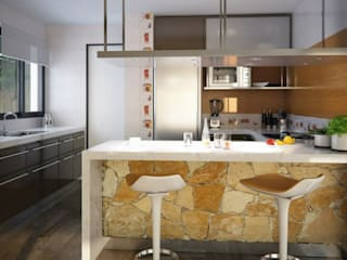 Project of small house by the lake Cocinas modernas: Ideas, imágenes y decoración de Rodriguez Pons & Partners Moderno