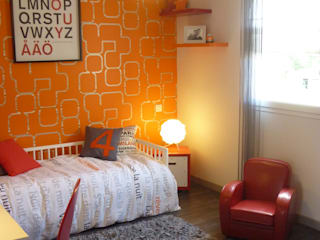 UNE CHAMBRE DE P'TIT MEC: Chambre d'enfant de style  par UN AMOUR DE MAISON