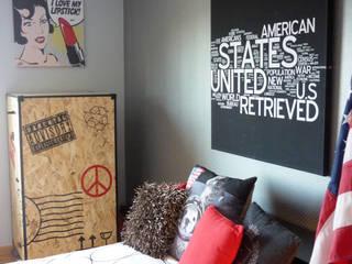 AMERICAN DREAMS: Chambre de style  par UN AMOUR DE MAISON