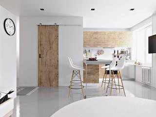 Scandinavian style living room by homify Scandinavian Wood Wood effect