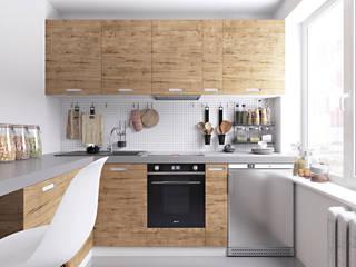Кухня в скандинавском стиле от homify Скандинавский Дерево Эффект древесины