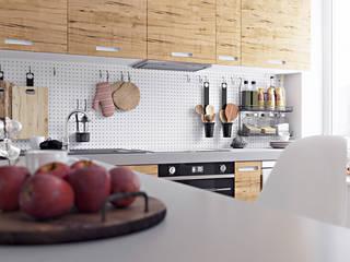 Scandinavische keukens van homify Scandinavisch Hout Hout