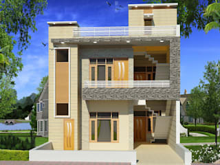 Construction / Civil Work Asian style houses by S.R. Buildtech – The Gharexperts Asian