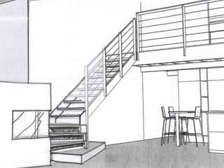 Escalier: Couloir et hall d'entrée de style  par Marie.A Design