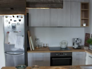 Mieszkanie Płock abostudio Nowoczesna kuchnia