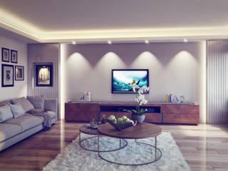 De I Studio - 3D Mimari Görselleştirme ve Animasyon Hizmetleri – Portfolyo:  tarz Oturma Odası