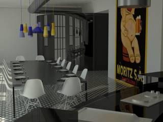 Oficinas y comercios de estilo industrial de Ana G. Carpallo Industrial