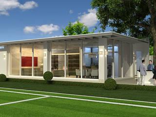 Salon de juegos Tecamachalco Casas modernas de Boué Arquitectos Moderno