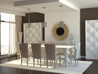 Gabriela Afonso Modern dining room Wood Brown