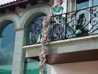 Modern Terrace by AMOATO STUDIO SA DE CV Modern