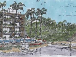 Posada Tres Marias Hoteles de estilo rústico de Boué Arquitectos Rústico