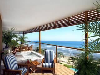 Quinta Real Acapulco Hoteles de estilo moderno de Boué Arquitectos Moderno
