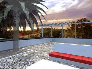 Terraço exterior: Casas rústicas por LXL - Lisbon Lifestyle