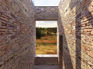 Vista exterior: Casas rústicas por LXL - Lisbon Lifestyle