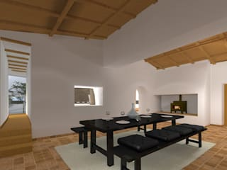 Sala de Jantar: Salas de jantar rústicas por LXL - Lisbon Lifestyle