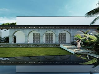 Casa de Campo Tempoal : Casas de estilo  por Tectónico,