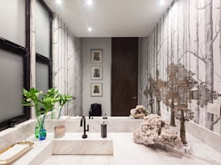 WRKSHP arquitectura/urbanismo Modern style bathrooms Marble White