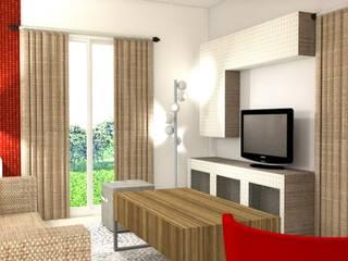 Modern living room by Pièces d'identité Modern