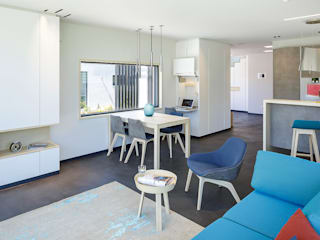 Lopez-Fotodesign Modern living room Turquoise