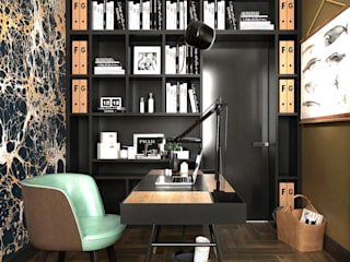 Eclectic style study/office by ONE STUDIO Eclectic