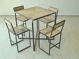 Tavolo e sedie Cool:  in stile industriale di Jail Design, Industrial
