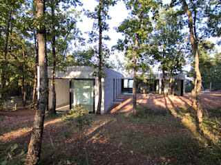 Vista des del patio: Casas de estilo  de Comas-Pont Arquitectes slp