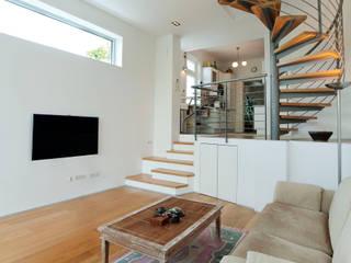 Umbau Haus S _ Niederösterreich Moderne Wohnzimmer von ATELIER WIENZEILE Tintscheff ZT-KG Modern