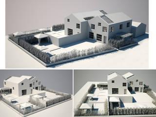 Vista complessiva esterna b/n: Case in stile in stile Industriale di a10studioarchitettura