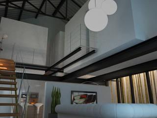 Vista interna: Soggiorno in stile in stile Industriale di a10studioarchitettura