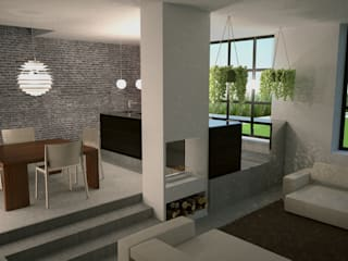 Vista interna: Cucina in stile in stile Industriale di a10studioarchitettura