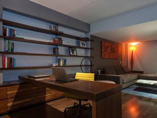 Departamento en La Condesa: Estudios y oficinas de estilo ecléctico por MAAD arquitectura y diseño