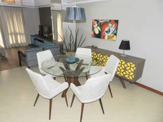 Столовые комнаты в . Автор – ANE DE CONTO  arq. + interiores, Эклектичный