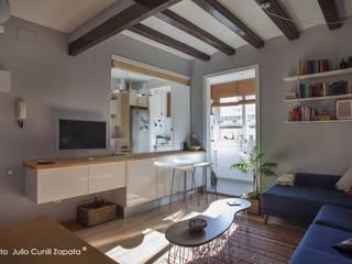 Reforma de comedor y cocina en piso del barrio de Gràcia (Barcelona) de mobla manufactured architecture scp