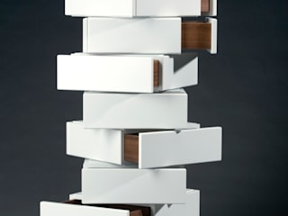 Mirko Danckwerts Möbelgestaltung Living roomStorage MDF White