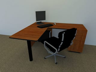 Daniel Santamaría Study/officeDesks Wood-Plastic Composite Wood effect