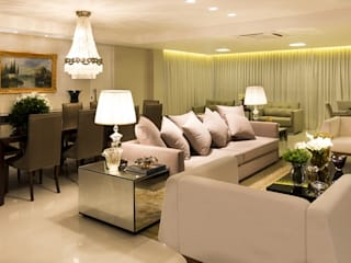 Apartamento G2 Salas de estar clássicas por Valdete Duarte Clássico