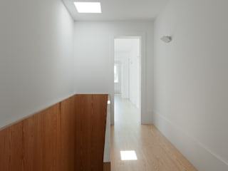 bAse arquitetura Modern Corridor, Hallway and Staircase