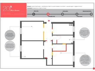 Stato di confronto: Case in stile  di Architetto Gloria Quartieri