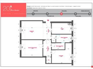 Stato di progetto: Case in stile  di Architetto Gloria Quartieri