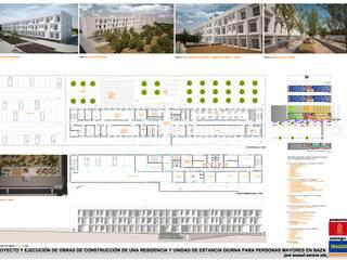 CONCURSO RESIDENCIA Y UNIDAD DE ESTANCIA DIURNA Hospitales de estilo moderno de AMARQUITECTURA Moderno