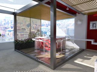 Lápiz De Sueños Balkon, Beranda & Teras Modern