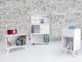 Würfelregal W3 Zweitform WohnzimmerSchränke und Sideboards Holz Weiß