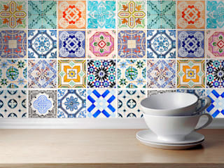 Traditional Spanish Tile Decals por MOONWALLSTICKERS.COM Clássico