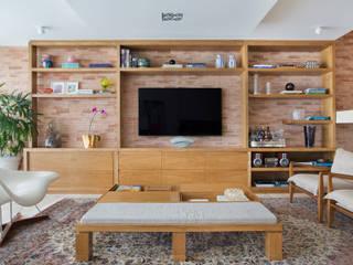 Cobertura Ipanema Salas de estar modernas por Paula Libanio Arquitetura Interiores Moderno