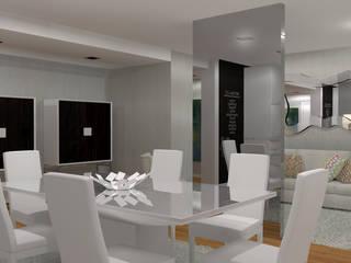 Moradia Felgueiras: Salas de jantar  por Macedo Barbosa Interiores,Moderno