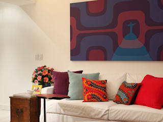 Apartamento Botafogo: Salas de estar  por Mariana Dornelles Design de Interiores