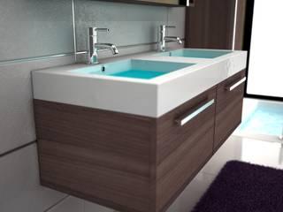 Serdar Hakan – Showroom Bölüm Tasarımı - Kema Walnuss Banyo Mobilyası:  tarz